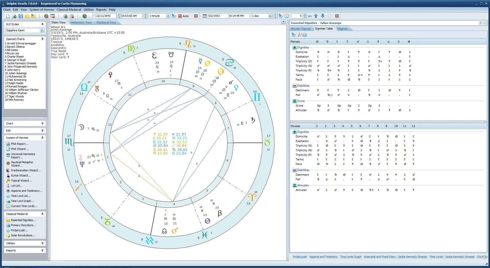 matrix oracle astrology software